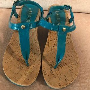 Size 5 1/2 Blue Ralph Lauren heels.